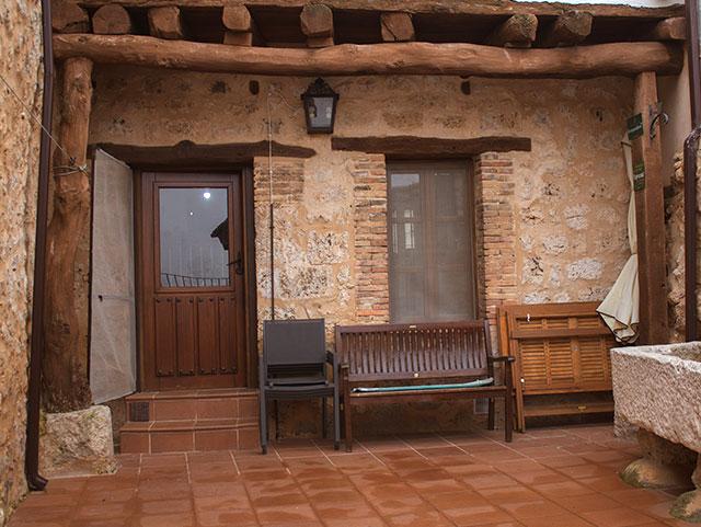 Patio interior- Casa Azul de la Ribera